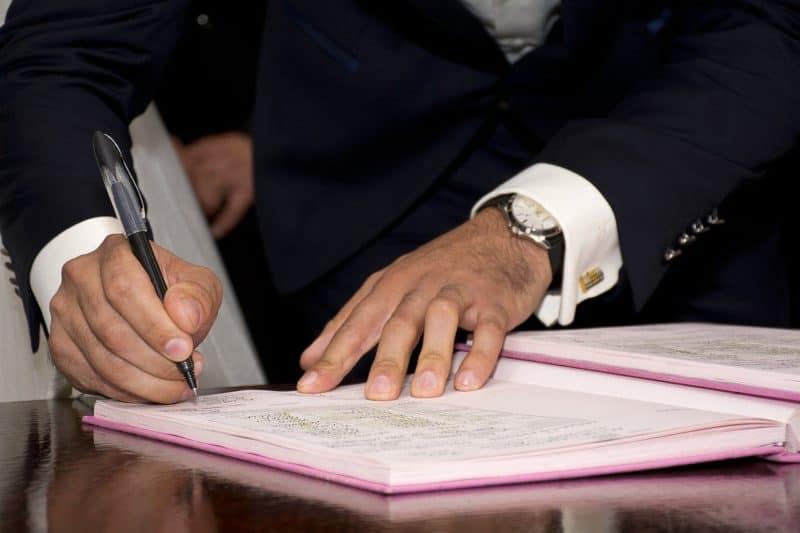 חתימה על הסכם כתובה